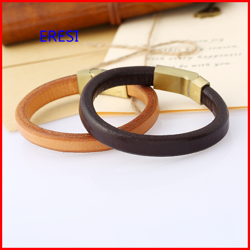 2017 Hot Selling Genuine Leather Jewelry Punk Bracelet Wholesale Price Magnetic Clasp Bracelet 4